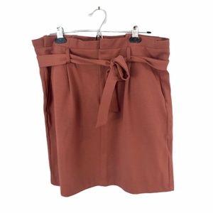 Vero Moda Burnt Orange Paperbag Waist Mini Skirt